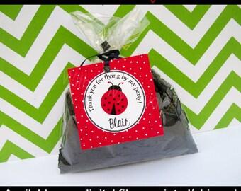 Ladybug Favor Tags - Ladybug Thank You Tags - Ladybug Gift Tags - Ladybug Birthday Tags - Digtal & Printed