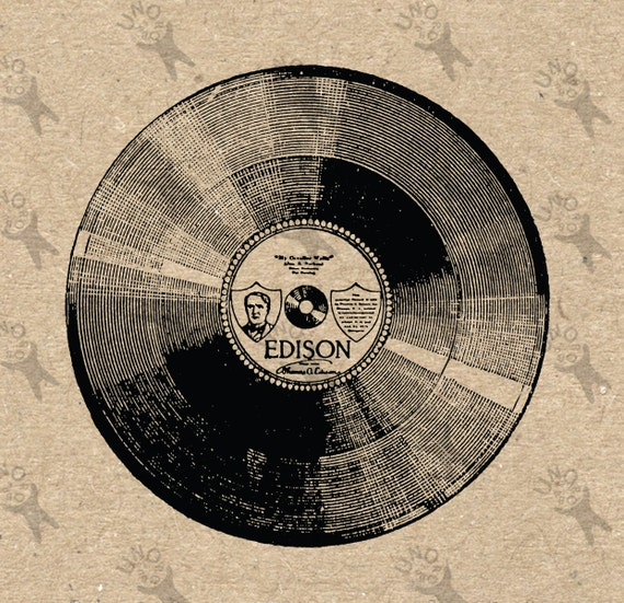 Retro Vinyl Record Image Instant Download Printable Vintage