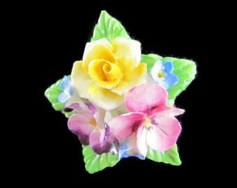 Flower Brooch Kildare English Bone China Porcelain Flower Broach Made in England English Bone China Porcelain Jewelry