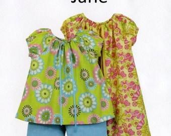 Peasant Style Dress Pattern /  Top and Pants Pattern / Jane Pattern / Children's Corner  #283 Jane