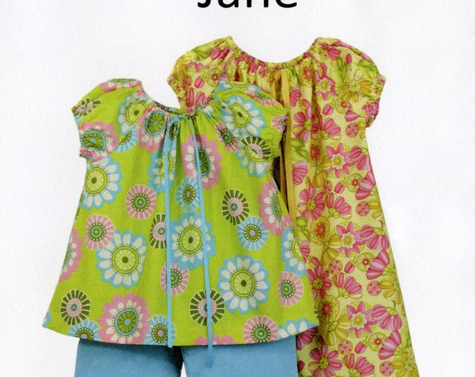 Childrens Corner Pattern / Peasant Style Dress Pattern /  Top and Pants Pattern / Jane Pattern / Children's Corner  #283 Jane