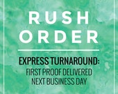 RUSH your proof: first proof same day if ordered before 11am AEST - proof next business day for orders placed after this time