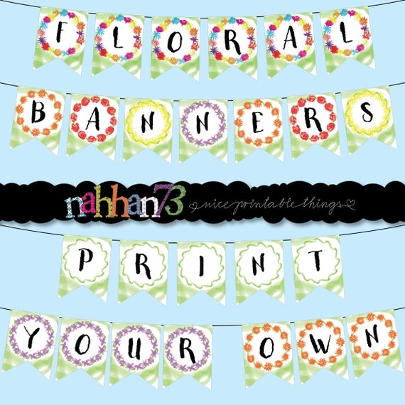 Design Your Own Banner: I Love Flowers Printable Banners Create Your Own