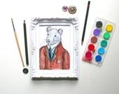 A Portrait Of Dorian Gray Rat Painting Original Art Rat Watercolour