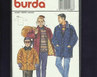 Burda 4488 Quilted Ranch Hand Coats for Kids Size 8 to 16 Junior  UNCUT