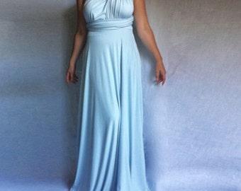 Infnity Wrap Convertible Bridesmaid Dress / Maxi Dress /Prom Long Dress /Sky Blue Dress