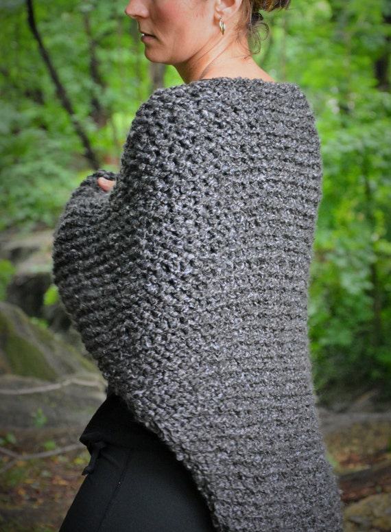 Knitting Pattern For Outlander Shawl : Outlander Shawl / Claires Gray Wrap Free US Shipping