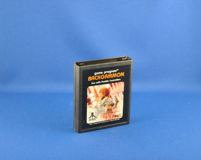 Atari 2600 Backgammon Game From Atari 1979 - Game - Collectible - Console - Video Game - Cartridge - Retro - Classic - Paddle - Joystick