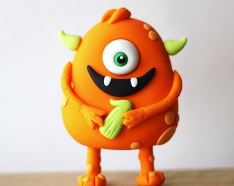 Cute Monster Fondant Cake Topper Set - Monster Fondant - Monster Party - Monster First Birthday - Edible Monster Topper