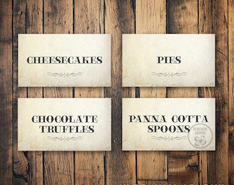 Food Labels for wedding or party
