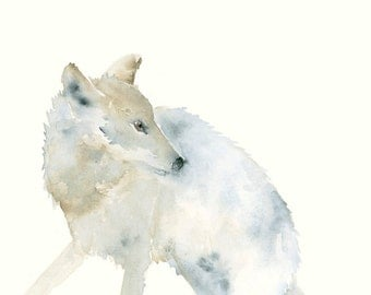 Wolf Giclee print from Original Watercolor Painting