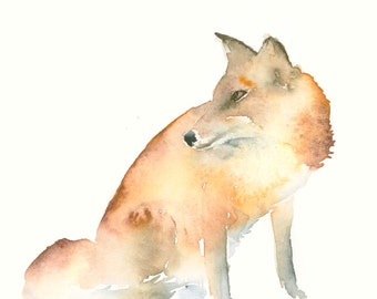 Fox Fine Art Print from Original Watercolor Painting