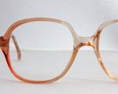 Vintage French Orange Sunset Eyeglasses Sunglasses Frames