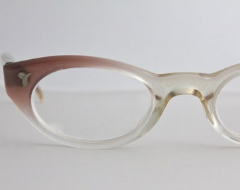 Vintage Damaged 50's Youth Rose Cat Eyeglasses Frames
