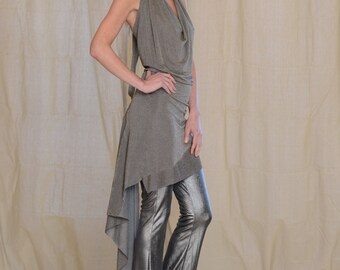 Women's Halter Dress, by Rebecca Bruce, Style D-139 Bronze Metalic