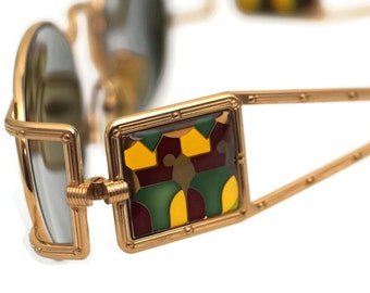 Vintage JEAN PAUL GAULTIER Bust Stained Glass Sunglasses