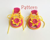 Baby sandals pattern Crochet baby sandals pattern Baby summer sandals Girls crochet sandals Baby crochet sandals Baby flip flops Pattern PDF