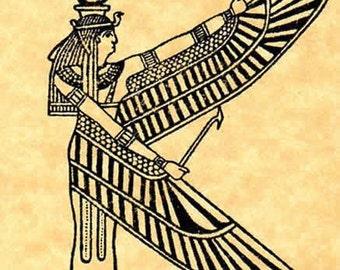 Egyptian Goddess Isis Rubber Stamp