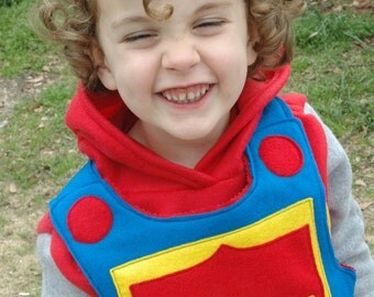 Knight Body Armor -  Felt Breastplate - PRIMARY Colors - Kid Costume - Kid Christmas Gifts