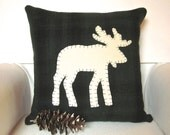 Decorative Throw Pillow, Rustic Cabin Decor Pillow, Moose Decor Pillow, Lodge and Woodland Pillow, 16 Inch Pillow