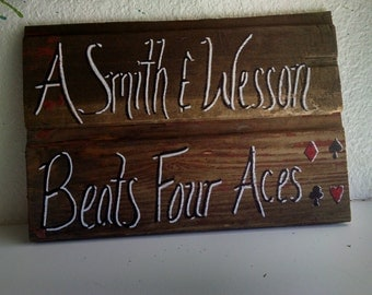 Humorous Hand Painted Wood Sign FREE SHIPPING 9-1/2 in. x 6 in.