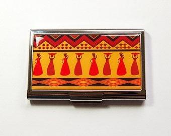 Monogram card case for her business card case business card business card holder business card case tribal design kwanzaa gift card case colourmoves Choice Image