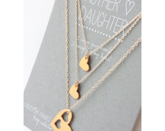 Mother Daughter Necklace Set - Mother's Day Gift - Mother's necklace - Gift for Mom - mom necklace - jewelry gift - mother and daughter