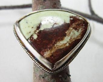 Lemon Chrysoprase Ring Silver Size 10.5 DT16006