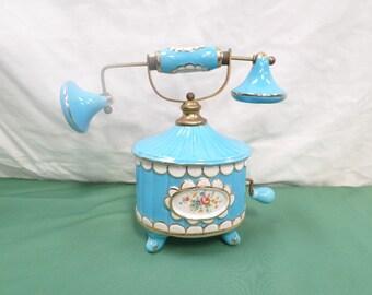 Antique Porcelain Telephone Candy Jar (v330)