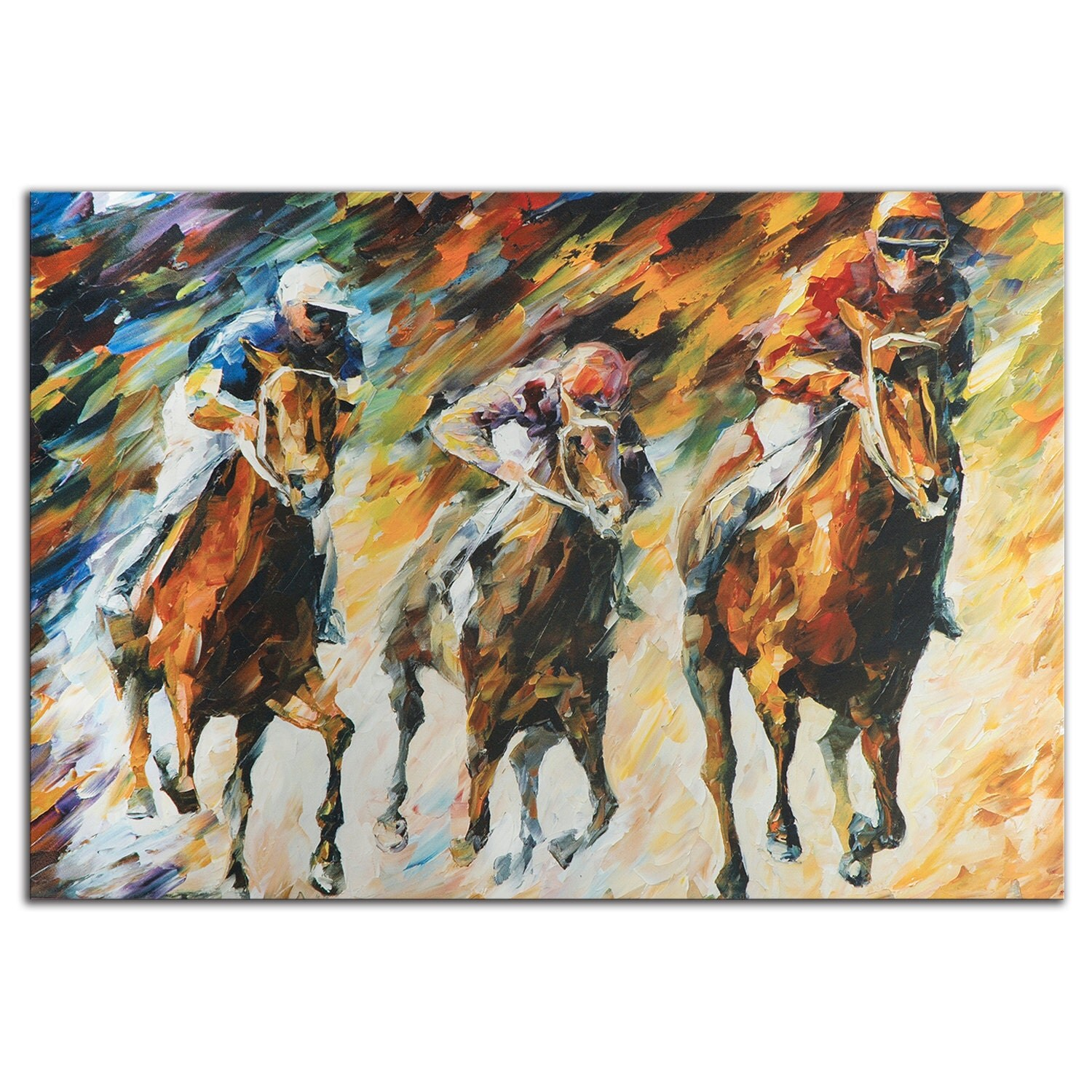 Horse racing art instant of success metal giclee zoom amipublicfo Gallery