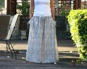 Tribal Maxi Skirt, Summer Skirt, Casual women's skirt, fashionable and chic
