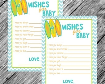 Surf Baby Shower Printable Game • Wishes for Baby