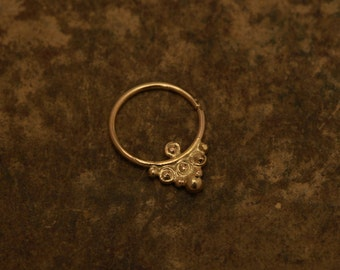 Nose ring - Summer wedding - 14k yellow gold - nose hoop - nose ring - tragus - Nose jewelry - tragus - septum