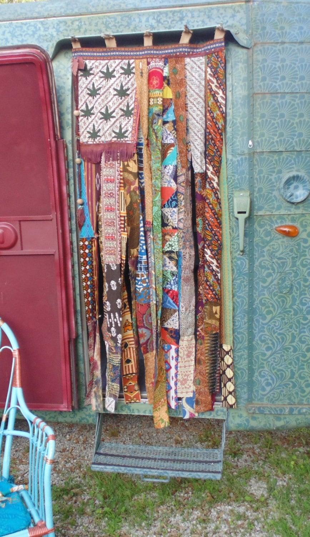 American flag boho hippie bead door curtain by thesleepyarmadillo