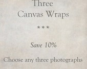 Canvas Art, Custom Set of 3 Gallery Wraps, Fine Art Photography, Ready to Hang Wall Art, SAVE 10%