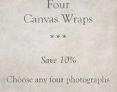 Canvas Art, Custom Set of 4 Gallery Wraps, Fine Art Photography, Ready to Hang Wall Art, SAVE 10%