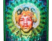 Jimi Hendrix Experience Psychedelic Rock Band Portrait Iron On Applique Patch