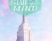 New York City Art - 8x10 photograph - Empire State Building - Typography -  fine art print - vintage photography - New York artwork
