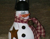 MADE TO ORDER-Snowman Ornament