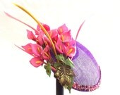 Handmade Fascinator, Fancy Hat, Hair Accessory, Wedding Accessory, Cocktail Party Hat, Spring Summer Accessory