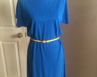 Royal blue jersey cotton dress