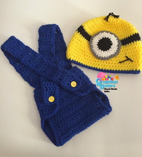 Free Crochet Pattern Minion Beanie : Crochet Minion Beanie and Diaper Cover pattern from ...