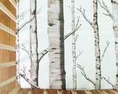 Crib Sheet Birch Trees. Fitted Crib Sheet. Baby Bedding. Crib Bedding. Minky Crib Sheet. Crib Sheets. Woodland Crib Sheet. Tree Crib Sheet.