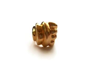Vintage Matte Gold Swirl Modernist Size 6.5 Ring
