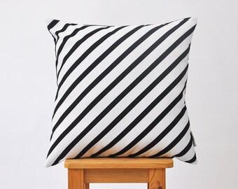 "Decorative Pillow, Monochrome Pillow, Geometric Kids Pillow, Nursery Pillow, Kids Pillow, Throw Cushion, Black White Cushion 16"" x 16"""