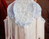 White Victorian Lace Lampshade Shabby Romantic Victorian Bridal Inspired