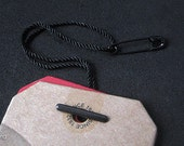 200pcs   Black - HTS-9 - Pre-made Hang Tag String. Nylon String Assembled with Copper Safety Pin & Bar.