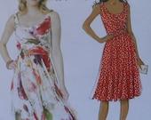 Misses Sleeveless Summer Garden Party Style Dress, Butterick B5750, Uncut, OOP