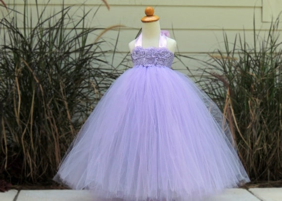 Light Purple Flower Girl Tutu Dress Flower Girl Dress By