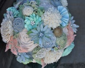 Ready to Ship Rustic Spring Bouquet // Sola Flower Brooch Bouquet // Rustic Antique Lace Wedding Bouquet // Ready to Ship Bouquet